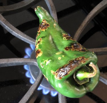 roasting poblano pepper