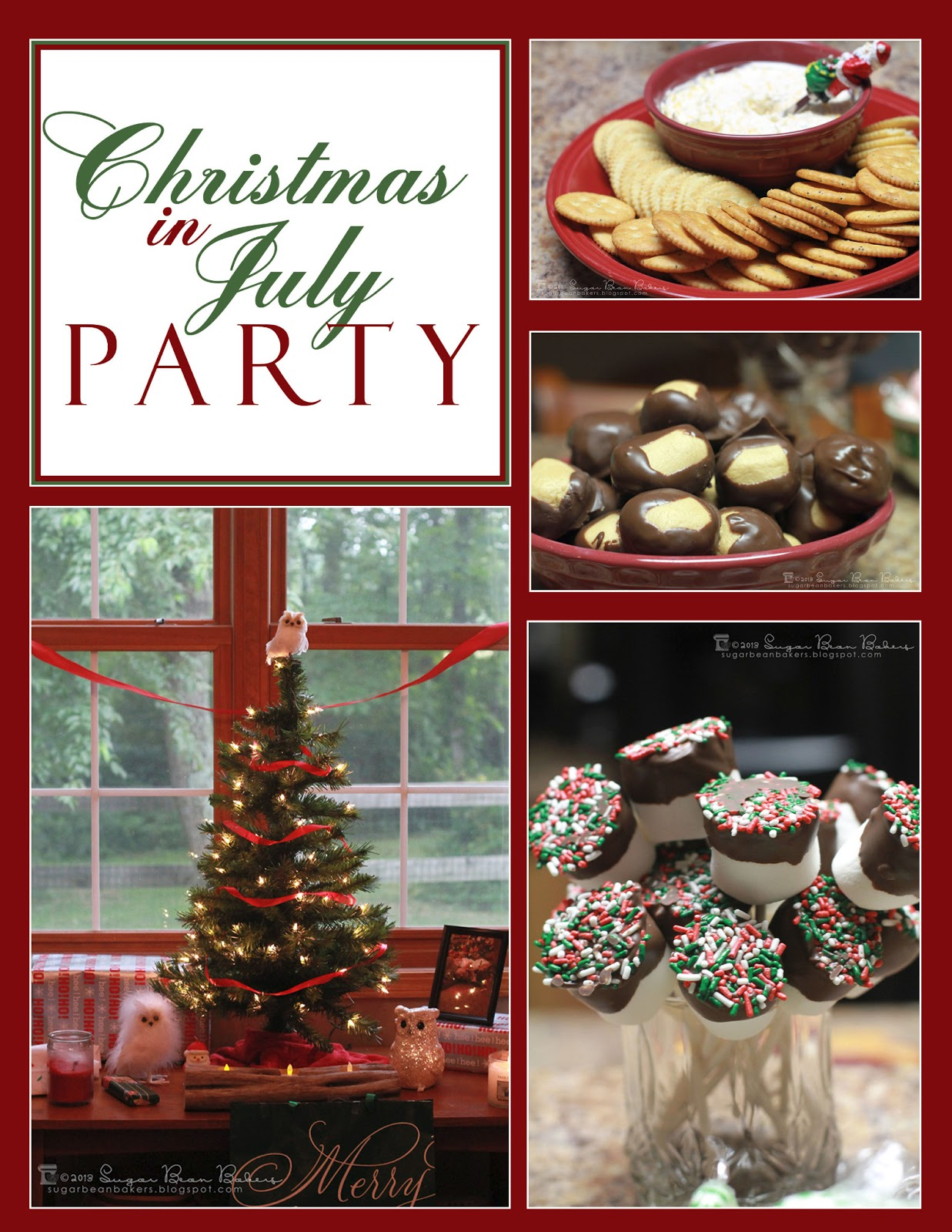 Sugar bean bakers christmas in july party for Christmas in july party ideas
