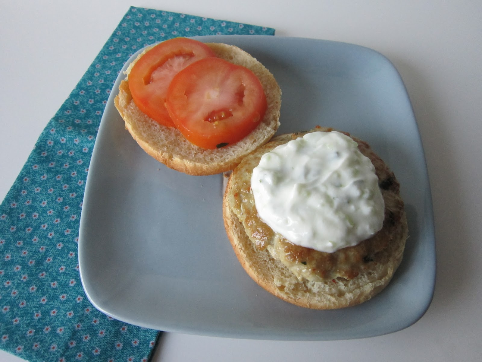 Sweet Beginnings: Sammich Saturday: Middle Eastern Chicken Burger