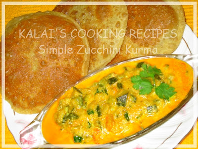 Simple Zucchini Kurma Recipe | Courgette Korma Recipe