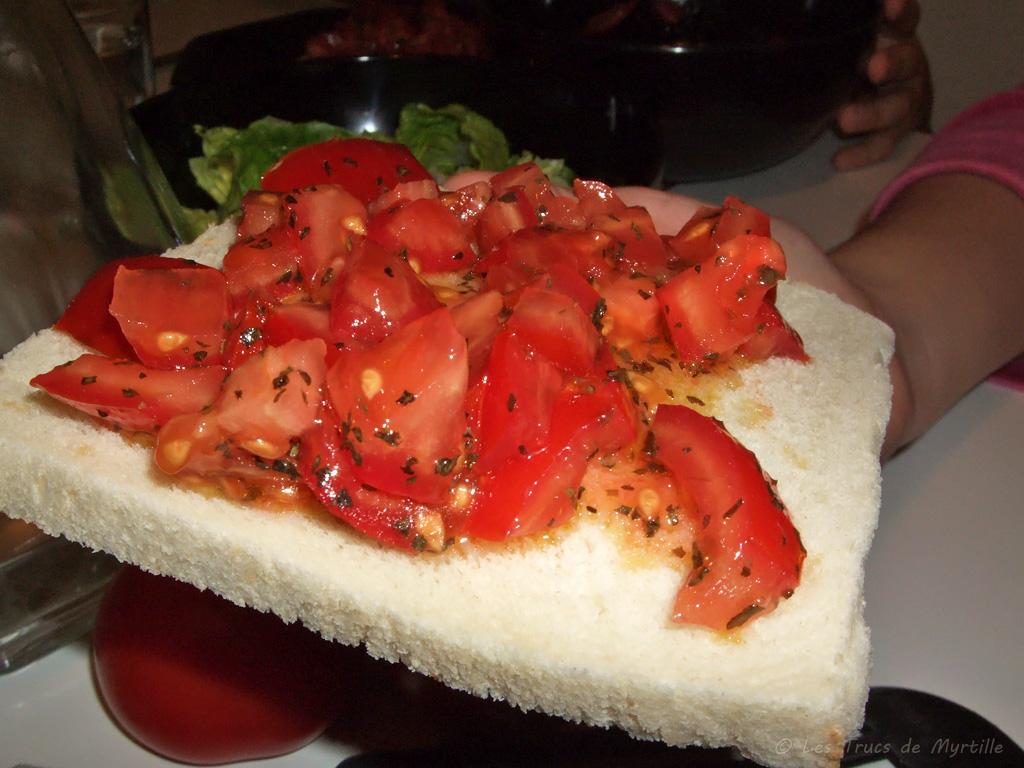 Voir la recette : bruschettas à la tomate