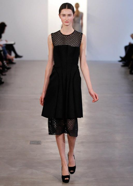 black sleeveless , net , dress