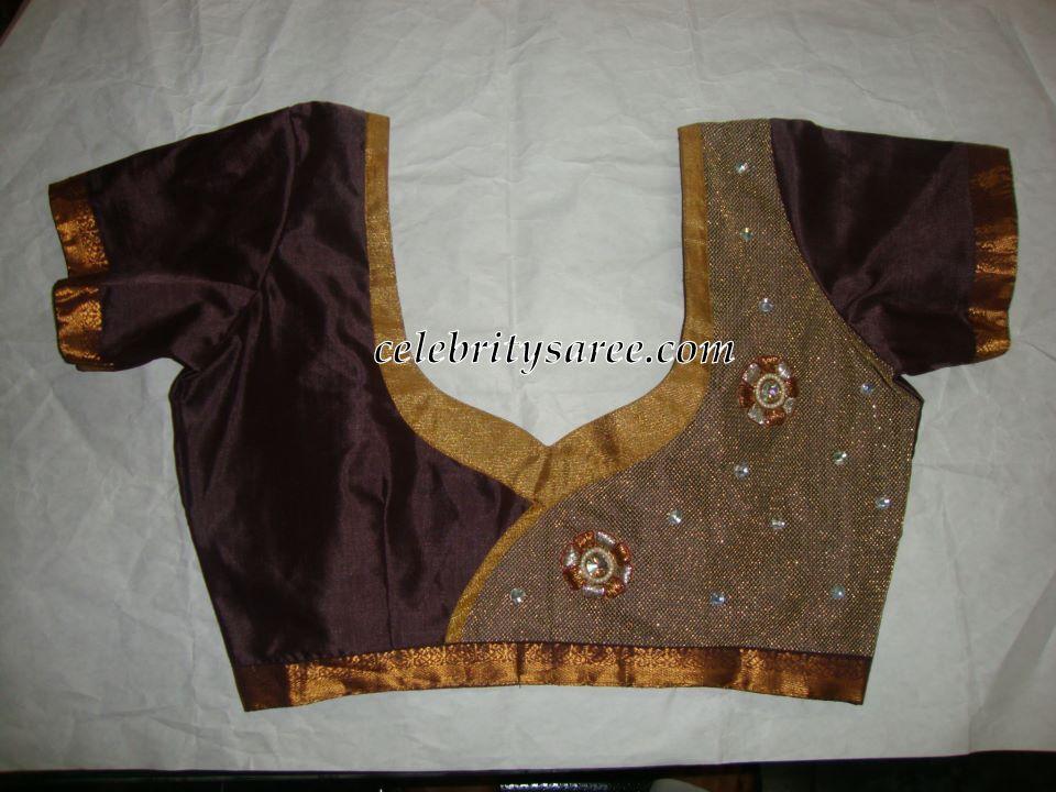 Simple Designer Blouses for Plain Saris - Saree Blouse Patterns
