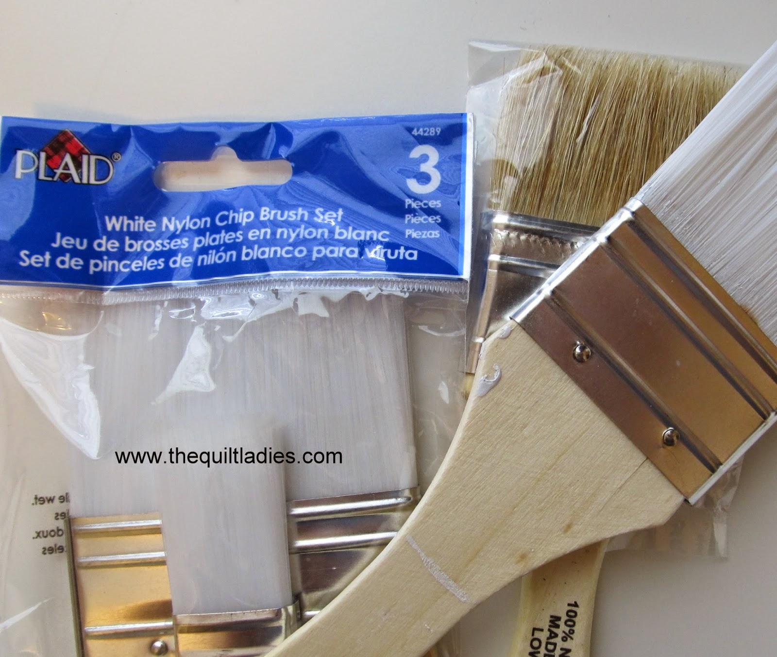 white nylon paint brushes