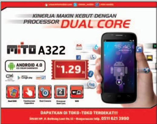 spesifikasi mito A322 dual core murah