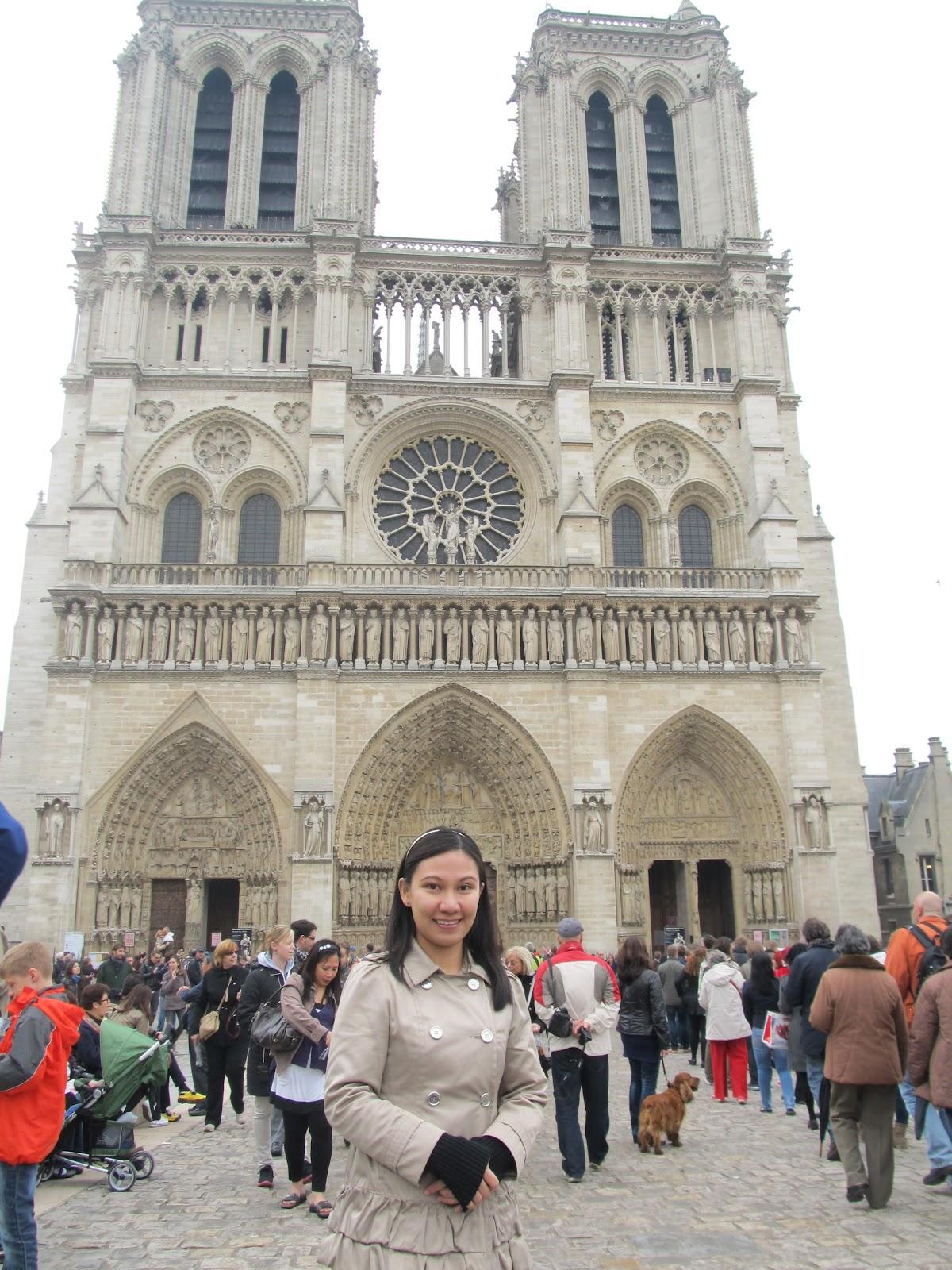 Paris France Notre Dame Cathedral