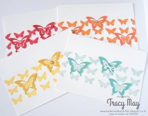 stampin up uk Butterfly collection wheel independent demonstrator Tracy May card making ideas