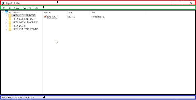 Sử dụng registry editor