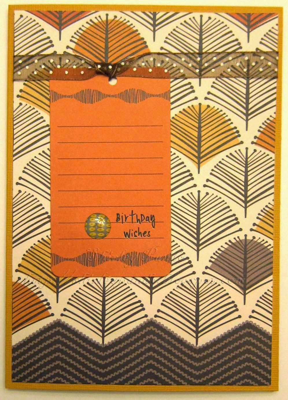 Orange Birthday Wishes card