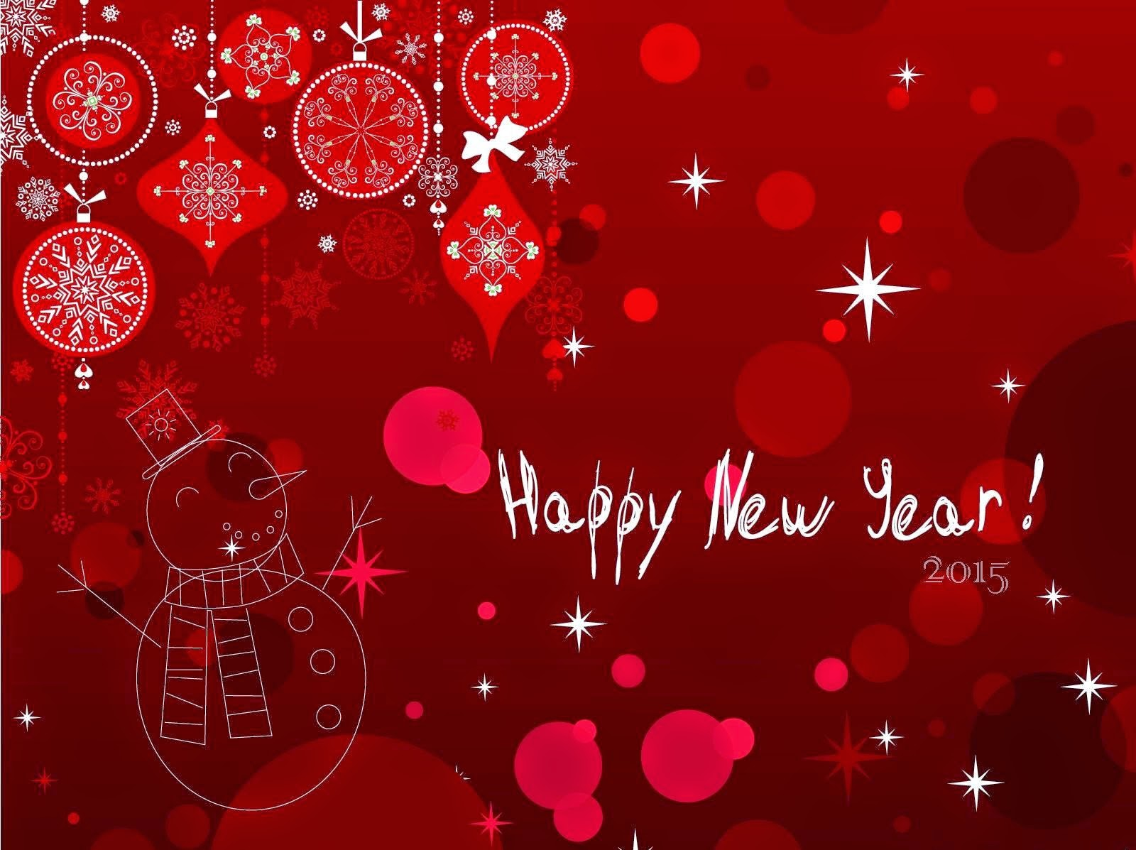 Red Happy New Year Image 2015