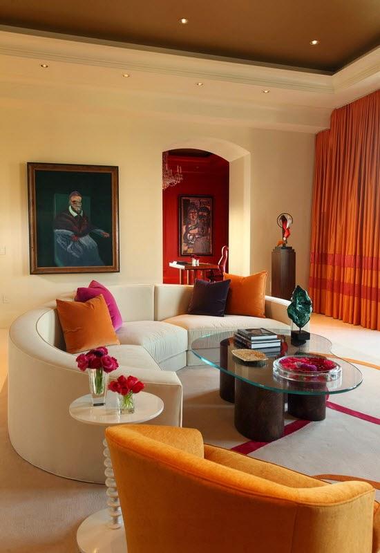 Sofa Lengkung Memperakrab Suasana Ruang Tamu dan Ruang Keluarga Anda
