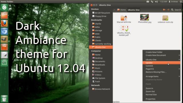 Tema Dark Ambiance Untuk Ubuntu 12.04