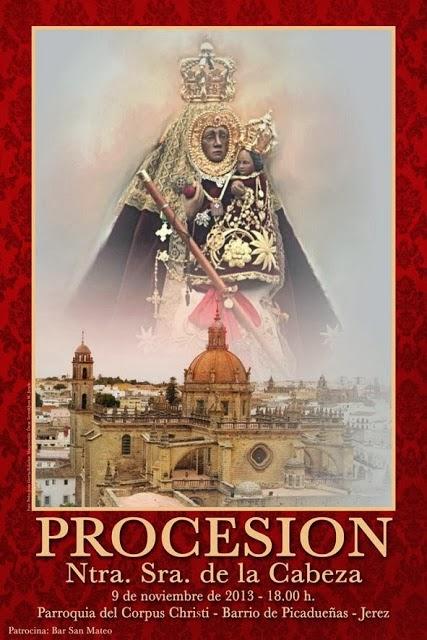 Cartel Salida Procesional 2013 de Nuestra Señora de la Cabeza de Jerez de la Frontera.