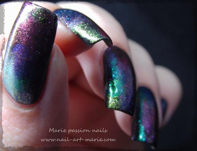 Nail art aurore boréale4
