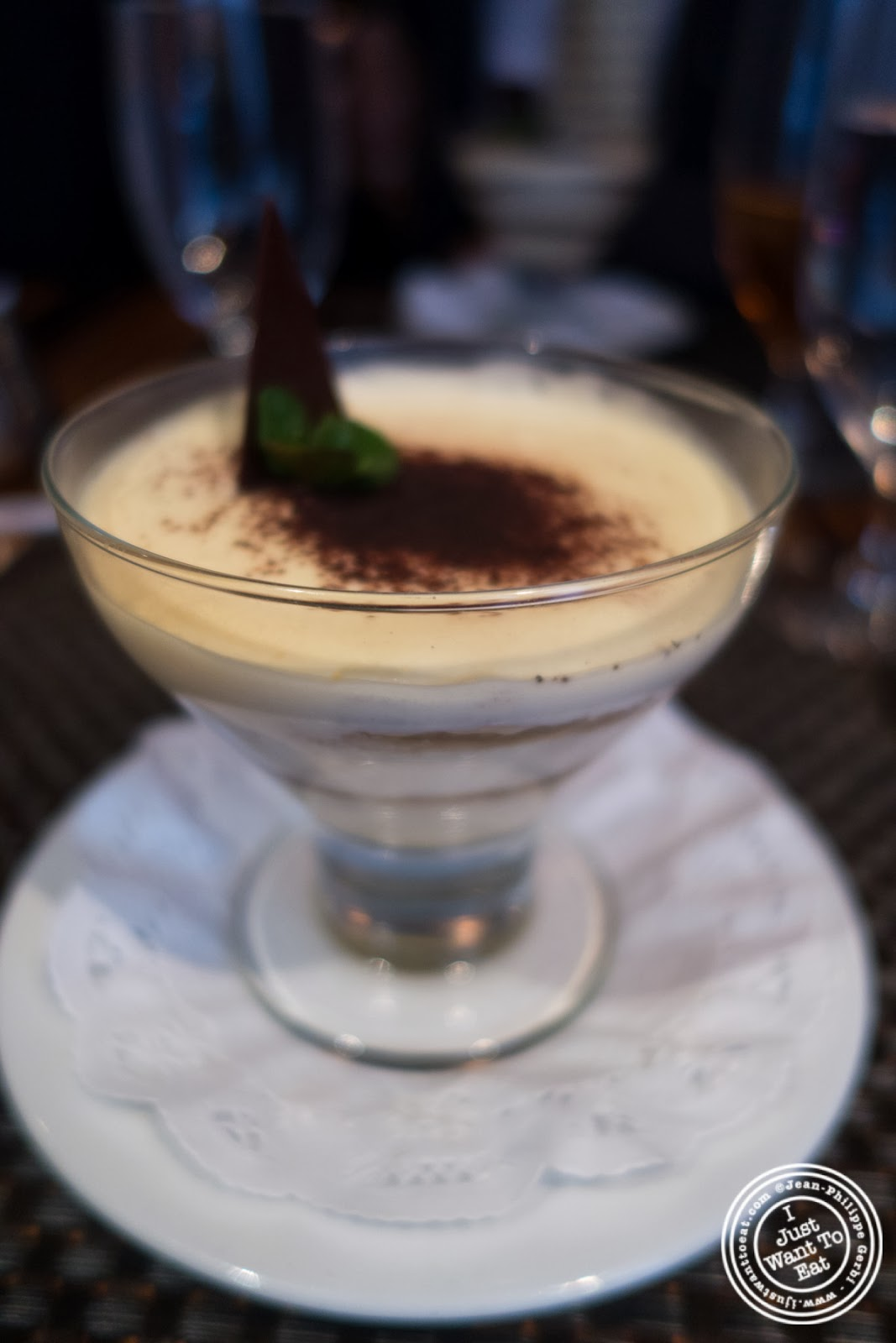 image of tiramisu at Abboccato Italian restaurant in NYC, New York