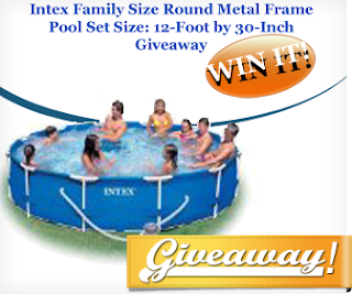 Intex Family Size Round Metal Frame Pool Set Giveaway