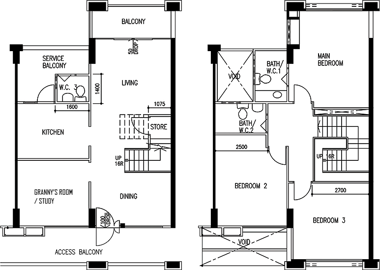 Maisonette floor plan roza sure bagus blog only 25k cov for Maisonette house plans
