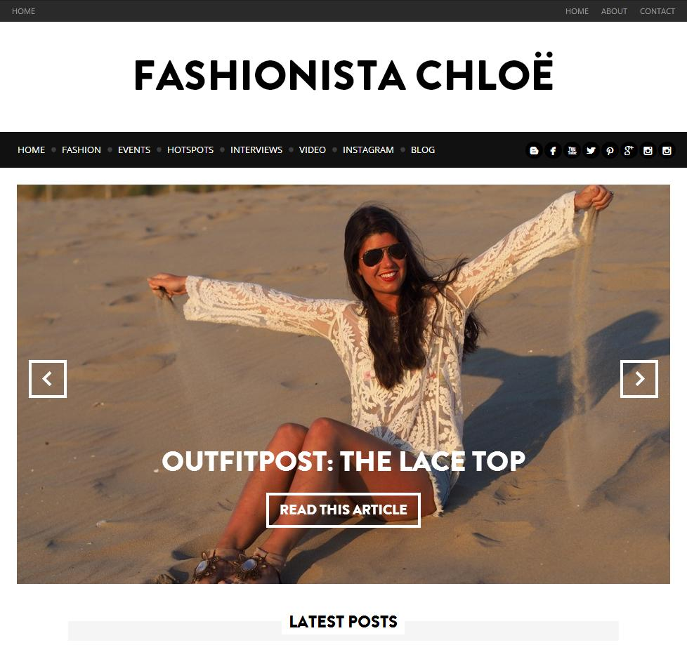 the new Fashionista Chloe site