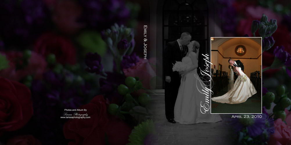emily josephs wedding album design - Photography Cover Page