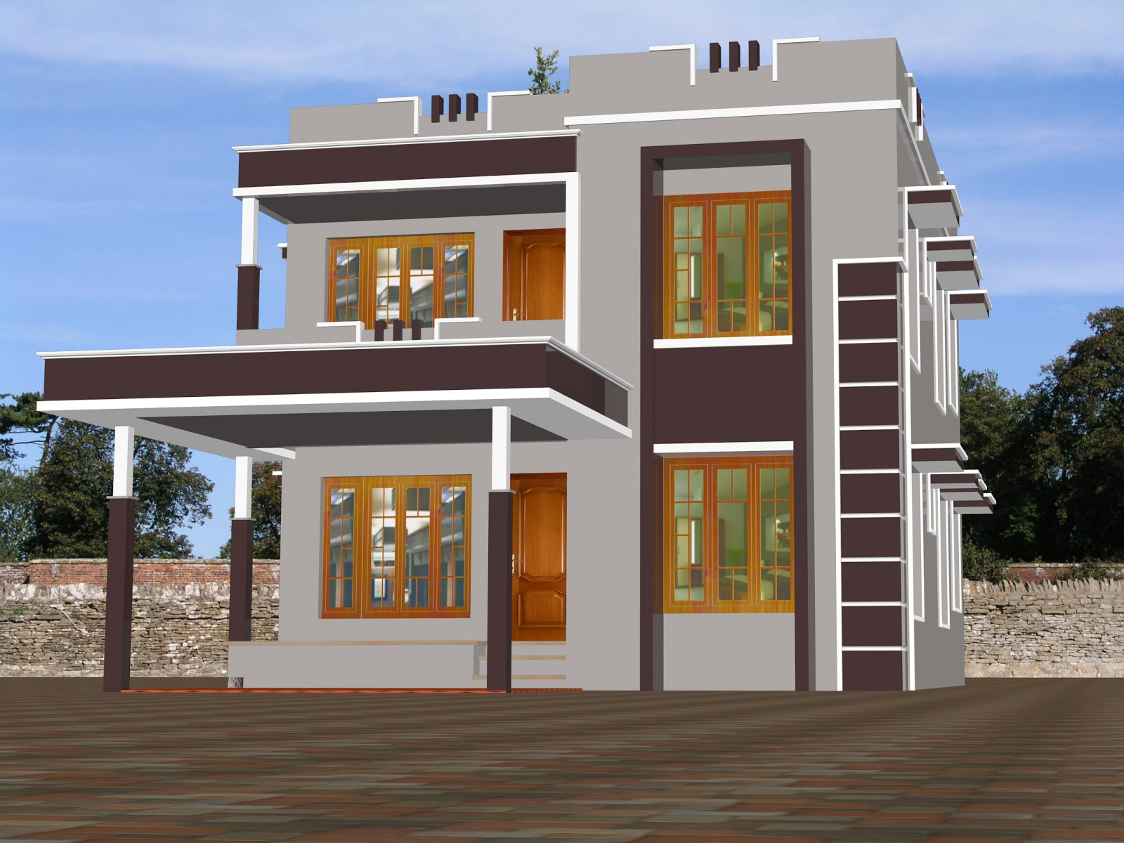 Kerala home design 29 building designs - New home construction designs ...