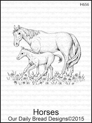 Our Daily Bread Designs stamp: Horses