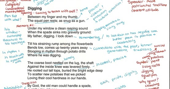 how to annotate a poem examples