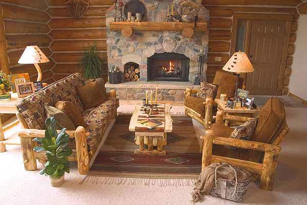 Sala De Estar Rustica ~ Decora Interi  Decoração de Salas de estar rústicas