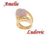 Inel de aur cu piatra de cuart roz
