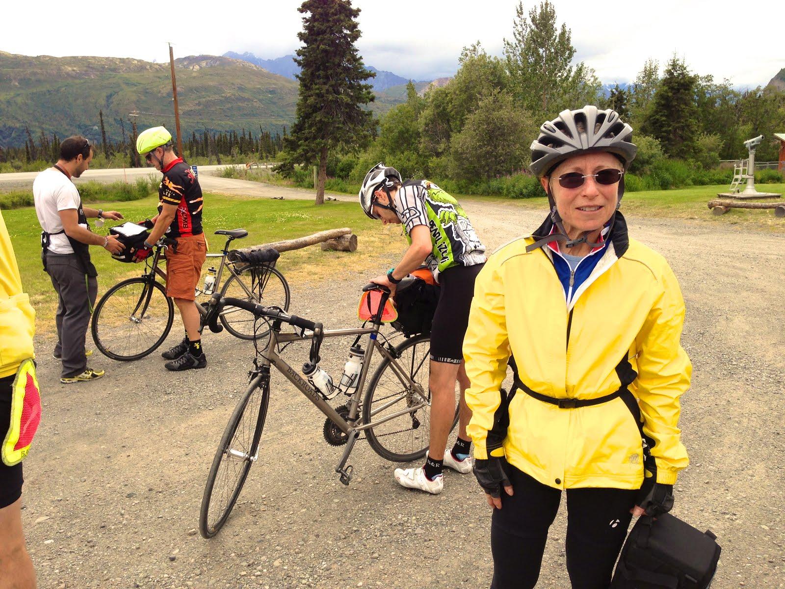 Bicyclists On The Glenn Highway