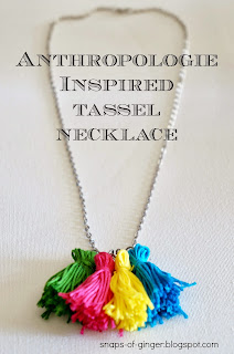 Anthropologie Inspired Tassel Necklace