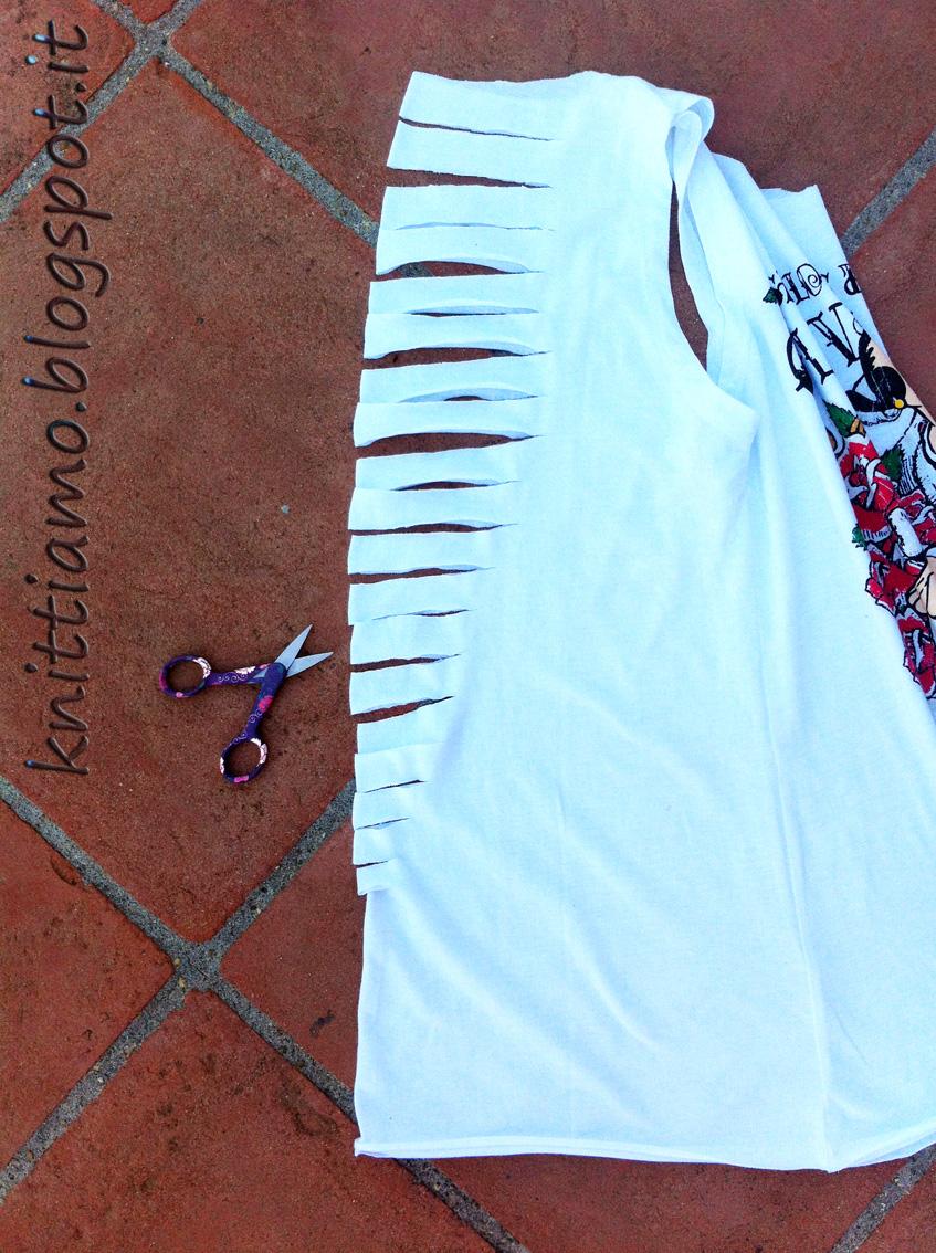 Exceptionnel Knittiamo con Martina e Roberta: Treccia sulla maglietta Olive Oyl  OE31