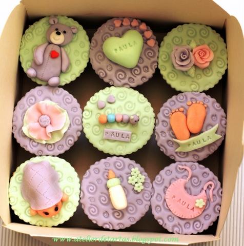 Cup cakes para baby shower de niño - Imagui