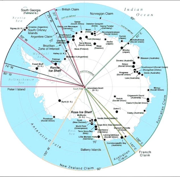 Rick Potvins Virtual Circumnavigation Of Antarctica To Decide If - Antarctic research stations map