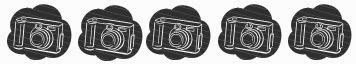 Black and white camera icons
