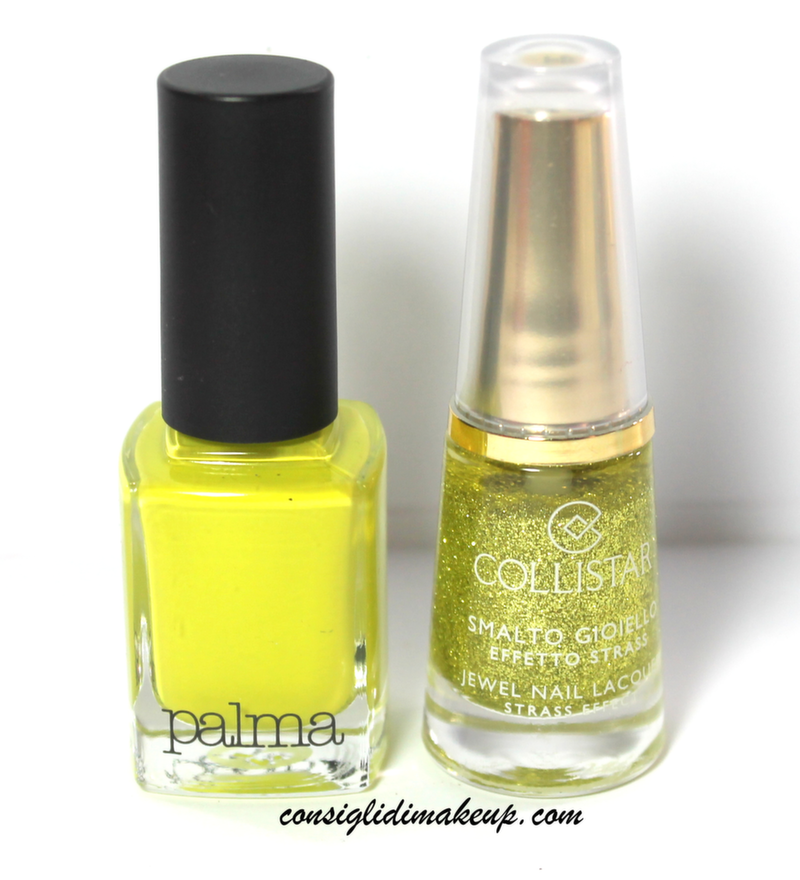 NOTD: Smalto Gioiello Lime Strass Collistar & Smalto Verde Lime Diego dalla Palma