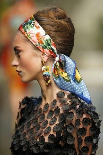 Lenços de cabeça turbantes  - Tendencia primavera verão 2015