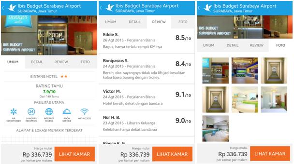 Gambar: Halaman lengkap Hotel ibis budget Surabaya Airport di aplikasi Traveloka
