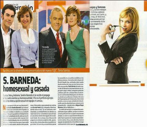 Matrimonio homosexual Sandra Barneda, lesbiana, sale del armario