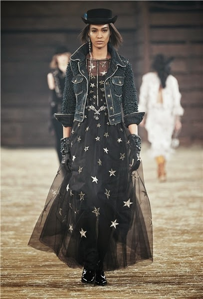 Chanel 2014 The Paris-Dallas Collection Star Mesh Dress