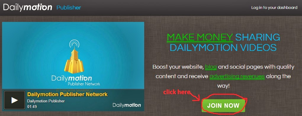 Make money from dailymotion