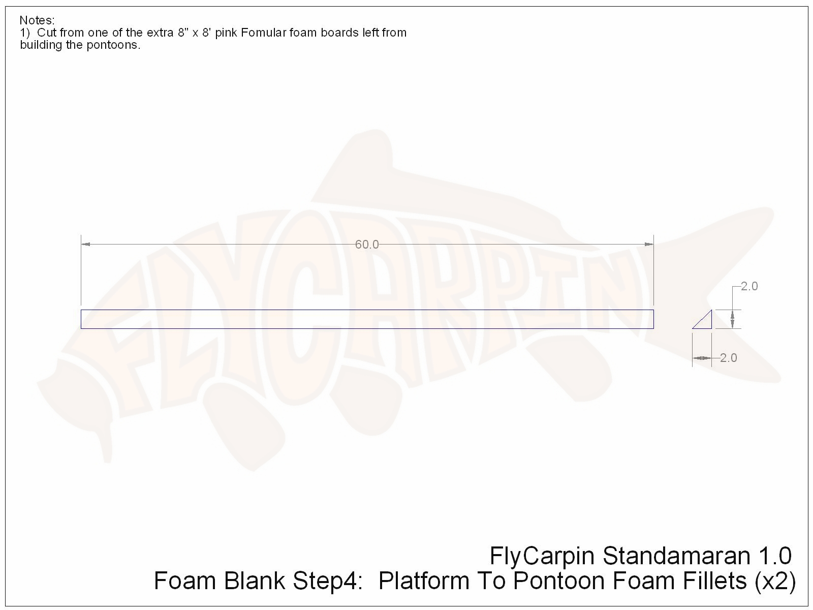 Standamaran SUP Plans Foam Blank Step 4