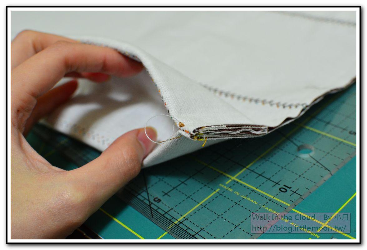 車縫左右表袋身後底部的長相