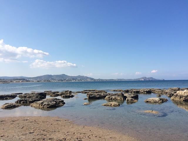 Beach in Kolimbia, Rhodes, Greece