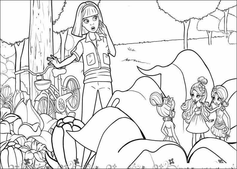 barbie thumbelina free coloring pages - photo#26