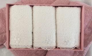 Cotton Box 3 lü Gipürlü Havlu Seti Krem
