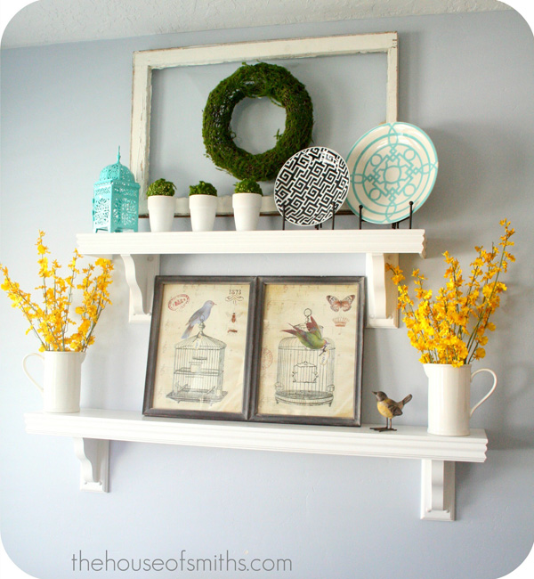 Shelf Decorating Ideas decorating shelves - everyday kitchen shelf decor