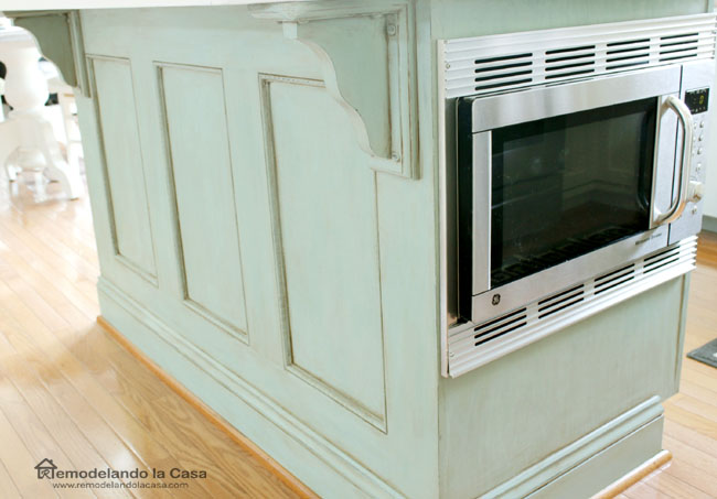 how to install a microwave in kitchen island