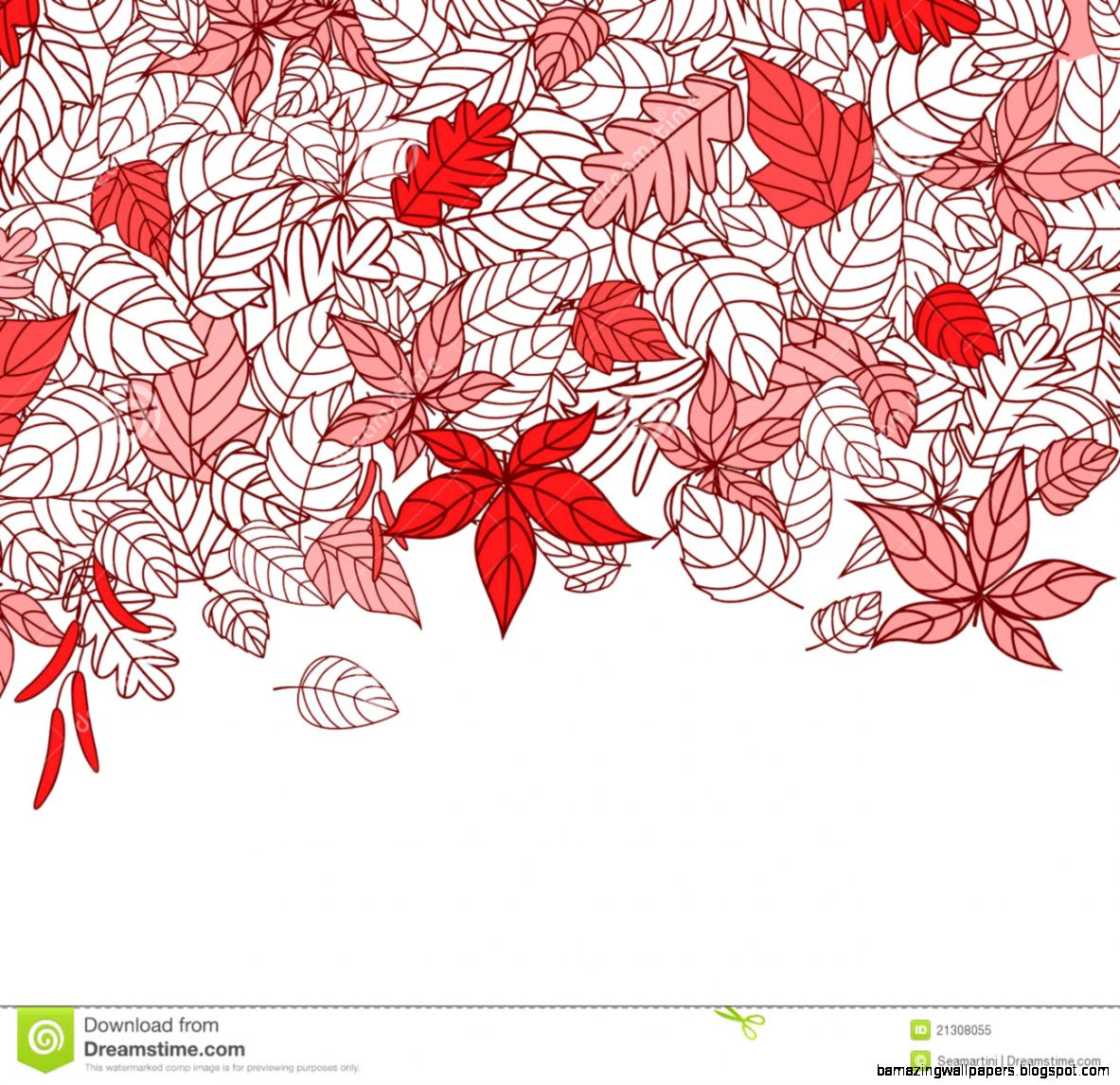 Red Autumn Leaves Background Royalty Free Stock Photo   Image