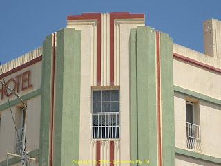 Salisbury hotel facade detail
