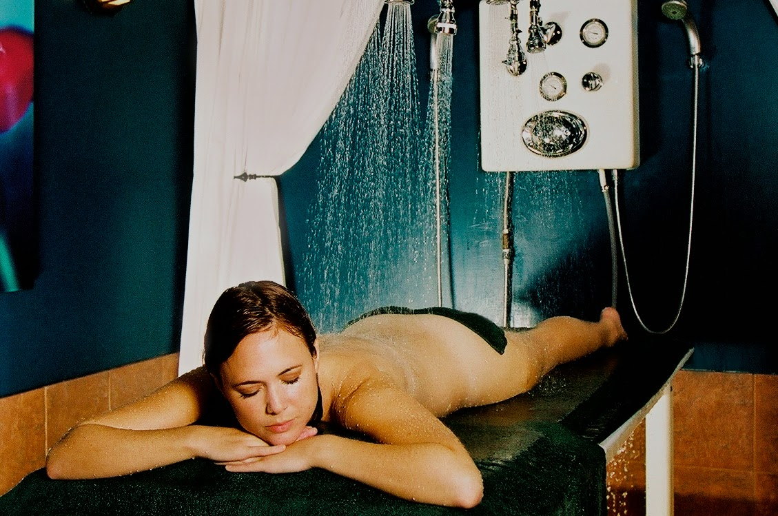 Table shower nude